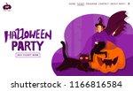 halloween holiday greeting...   Shutterstock .eps vector #1166816584