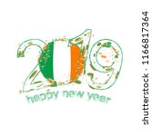 happy new 2019 year with flag... | Shutterstock .eps vector #1166817364