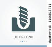 oil drilling vector icon | Shutterstock .eps vector #1166818711