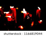glowing candles on dark... | Shutterstock . vector #1166819044