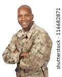 Smiling Serviceman With His...