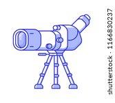 birdwatching monocular in line...   Shutterstock .eps vector #1166830237