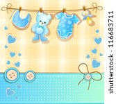 baby shower card   Shutterstock .eps vector #116683711