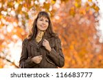 the happiness mature beautiful... | Shutterstock . vector #116683777