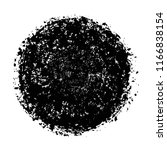 vector grunge round shape...   Shutterstock .eps vector #1166838154
