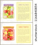 canned tomatoes pickled... | Shutterstock .eps vector #1166840854