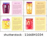 canned pineapple slices and... | Shutterstock .eps vector #1166841034