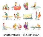 spa salon pedicure and barber... | Shutterstock .eps vector #1166841064