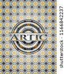 artic arabesque style badge.... | Shutterstock .eps vector #1166842237