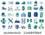 winter sports icon set. skiing  ... | Shutterstock . vector #1166845864