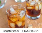 alcohol cocktail of rum or... | Shutterstock . vector #1166846014