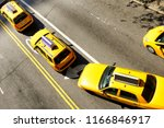 taxi from above  new york city | Shutterstock . vector #1166846917