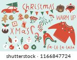 winter and christmas sticker... | Shutterstock .eps vector #1166847724