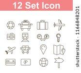 set of transportation icon   Shutterstock .eps vector #1166848201
