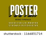 retro style font design ... | Shutterstock .eps vector #1166851714