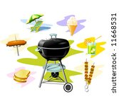 barbecue grill | Shutterstock .eps vector #11668531