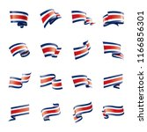 costa rica flag  vector... | Shutterstock .eps vector #1166856301