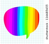 Hand-drawn colorful speech bubbles - stock vector