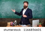 teacher bearded man tell... | Shutterstock . vector #1166856601