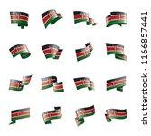 kenya flag  vector illustration ...   Shutterstock .eps vector #1166857441