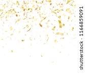 gold glitter realistic confetti ... | Shutterstock .eps vector #1166859091