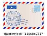envelope. with valence  italy... | Shutterstock . vector #1166862817