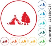 stylized icon of tourist tent.... | Shutterstock .eps vector #1166864254