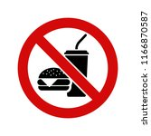 no food  sign | Shutterstock .eps vector #1166870587