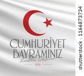 29 ekim cumhuriyet bayrami.... | Shutterstock .eps vector #1166873734