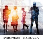 business people work together... | Shutterstock . vector #1166879677