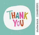 thank you   hand drawn... | Shutterstock .eps vector #1166883001