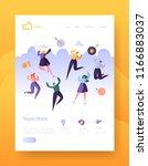 website development landing... | Shutterstock .eps vector #1166883037