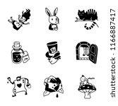 alice in wonderland vector icons | Shutterstock .eps vector #1166887417