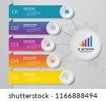 5 steps presentation chart ... | Shutterstock .eps vector #1166888494