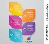 5 steps presentation chart ...   Shutterstock .eps vector #1166888527