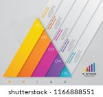 5 steps pyramid with free space ... | Shutterstock .eps vector #1166888551