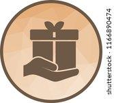 holding gift icon   Shutterstock .eps vector #1166890474