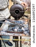 the blacksmith forge.... | Shutterstock . vector #1166892397