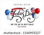 labor day sale promotion... | Shutterstock .eps vector #1166903227