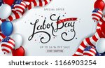 labor day sale promotion... | Shutterstock .eps vector #1166903254