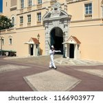 monaco. 06.09.12. guard at the... | Shutterstock . vector #1166903977