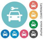 car rental flat white icons on... | Shutterstock .eps vector #1166904691