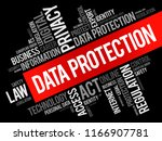 data protection word cloud... | Shutterstock .eps vector #1166907781