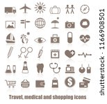 travel  medicals and shopping... | Shutterstock . vector #1166908501