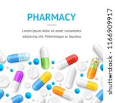 pharmacy therapy flyer banner... | Shutterstock .eps vector #1166909917