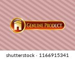 shiny badge with house icon... | Shutterstock .eps vector #1166915341