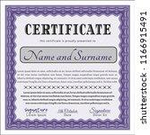 violet classic certificate... | Shutterstock .eps vector #1166915491
