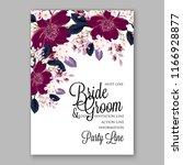 marsala anemone wedding... | Shutterstock .eps vector #1166928877
