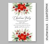 red poinsettia anemone wedding... | Shutterstock .eps vector #1166930944