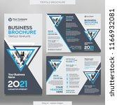 business brochure template in... | Shutterstock .eps vector #1166932081